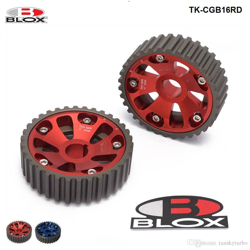 Tansky Blox ajustable came ajustable alliage équipement de timing pour DOHC B16A B16B pour Honda Civic (bleu, rouge) TK-CGB16