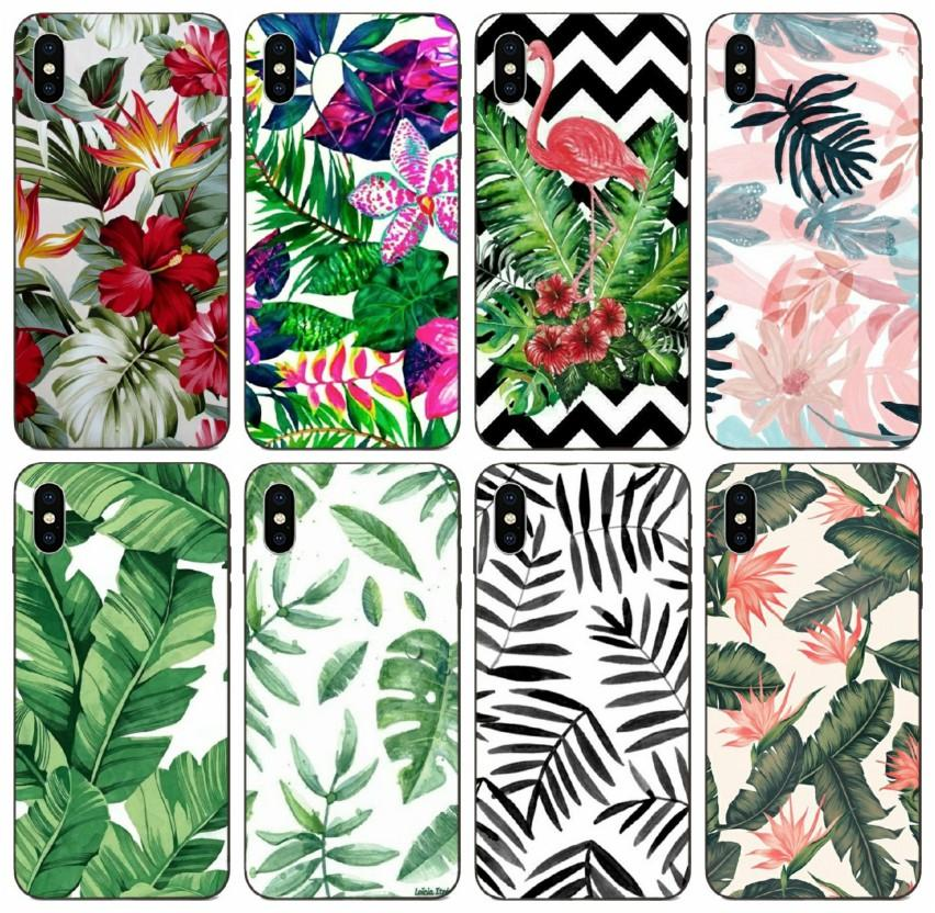 [TongTrade] Tropical Plant Banana Tree Leaves Flower Case For iPhone 11 Pro 8 7 6s 6 5s 5 Max X XS Galaxy A60 A6S Huawei GT3 GX8 LG K7 Case