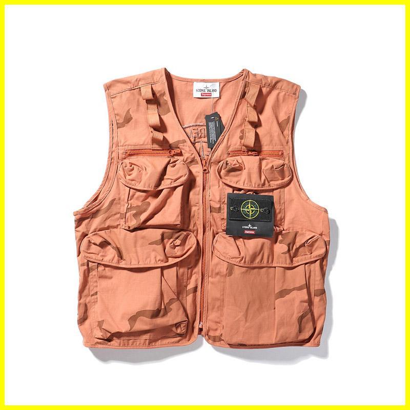 19fw جديد فاخر تصميم العلامة التجارية البوصلة كامو الشحن الصدرية الرجال أزياء المرأة عارضة قمصان وبلوزات الشارع الشهير في الهواء الطلق