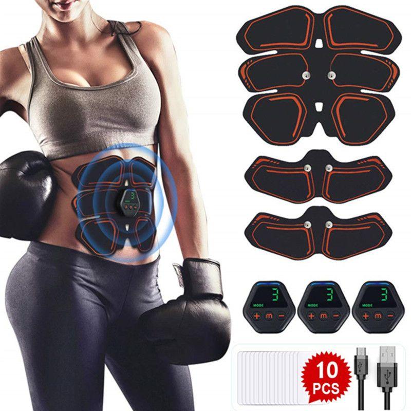 Électrique EMS Muscle Stimulator abdomiaux Muscle Toner Body Fitness Mise en forme massage Patch Siliming Entraîneur exerciseur unisexe DHL gratuit