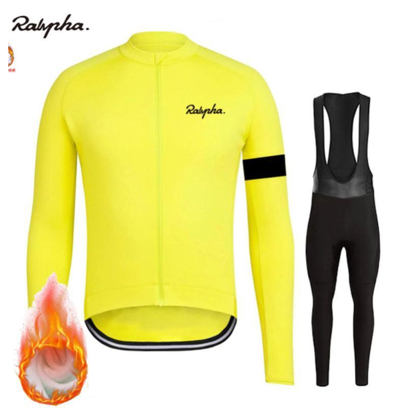 2020 Pro Team Зимняя Термальная руно Мужчины с длинным рукавом задействуя Джерси Set MTB Майо Ropa Ciclismo Uniform велосипед одежда набор
