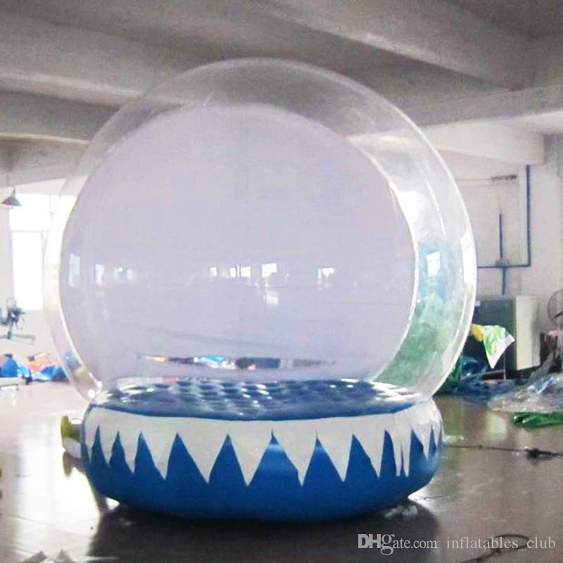 Freies Verschiffen Aufblasbare Schnee-Kugel für die Werbung 2M Dia inflatalbe Menschliches Schneekugel Weihnachten Yard-Schnee-Kugel mit Gebläse und Pumpe