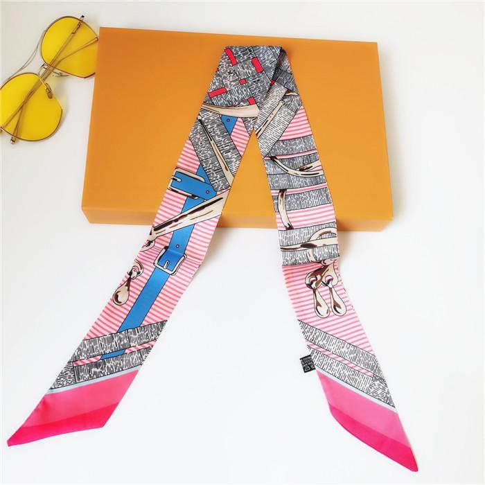 Nova Moda Seda Bolsa Saco Lenço Headbands Mulheres Silk Scraves 100% Top Grade Saco Saco Cachecol Bands8855