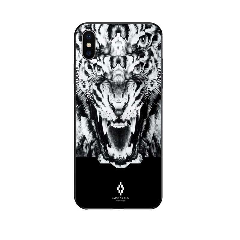 Cas de téléphone de marque pour Iphone 6 / 6s, 6p / 6sp, 7/8 7p / 8p X / XS, XR, Concepteur XSMax MARCEL @ BURL @ N Couverture arrière à imprimé animal Vente chaude 6 styles en gros