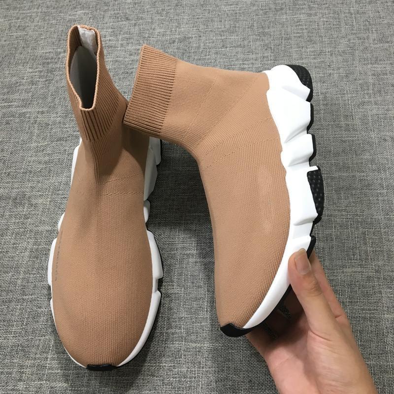 H1014 2019 calza botas de cuero de lujo para hombre Botas de alta velocidad entrenador superior de lana para hombre y zapatos de mujer de diseño web Celebrity + 12 Color