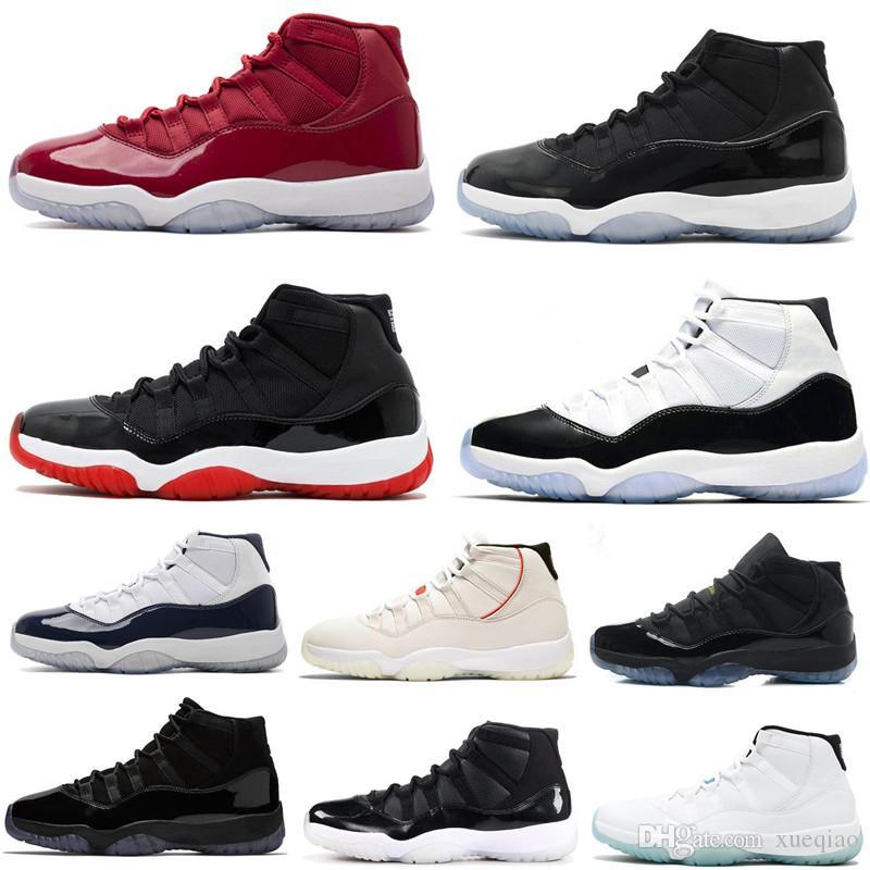 11s faible Bred Concord Basketball Shoes 11 UNC Win Comme 82 Win 96 comme Space Jam Gamma Bleu Snakeskin Hommes Femmes sport Chaussures de sport