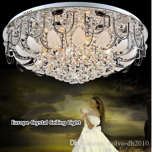 현대 단순 럭셔리 거실 E14 천장 램프 Led 주도 Loyer 드 크리스털 밝은 크리스탈 유리 천장 램프 로비 용 LLFA