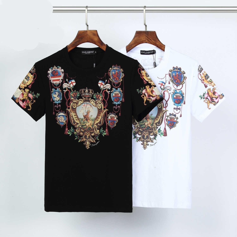 T-shirt da uomo Fashion Casual speciale formato M-3XL respirabile comodo WSJ007 # 120633 sole