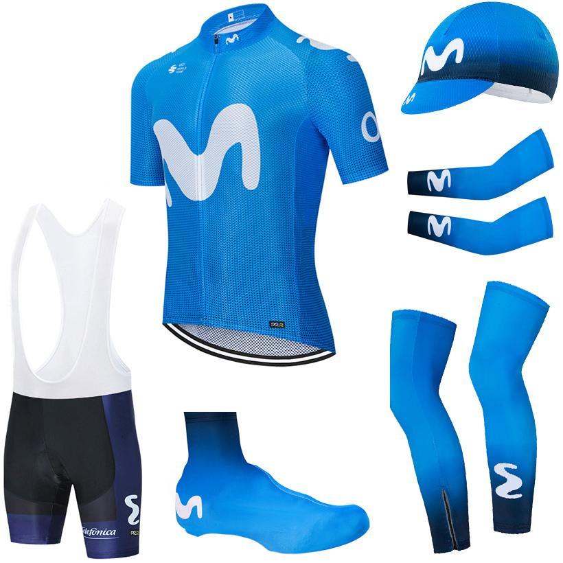투르 드 프랑스 2020 프로 팀 사이클링 저지 다리 따뜻한 턱받이 반바지 키트 armwarmer 로파 Ciclismo 여름 통기성 사이클링 의류를 설정