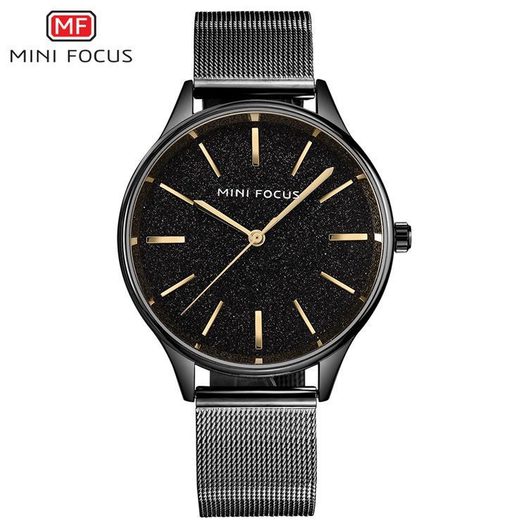 MINIFOCUS Business Ladies Dress Reloj de pulsera Mujeres Niñas Marca famosa Relojes de cuarzo de malla de acero Reloj de cuarzo de lujo femenino MF0044L