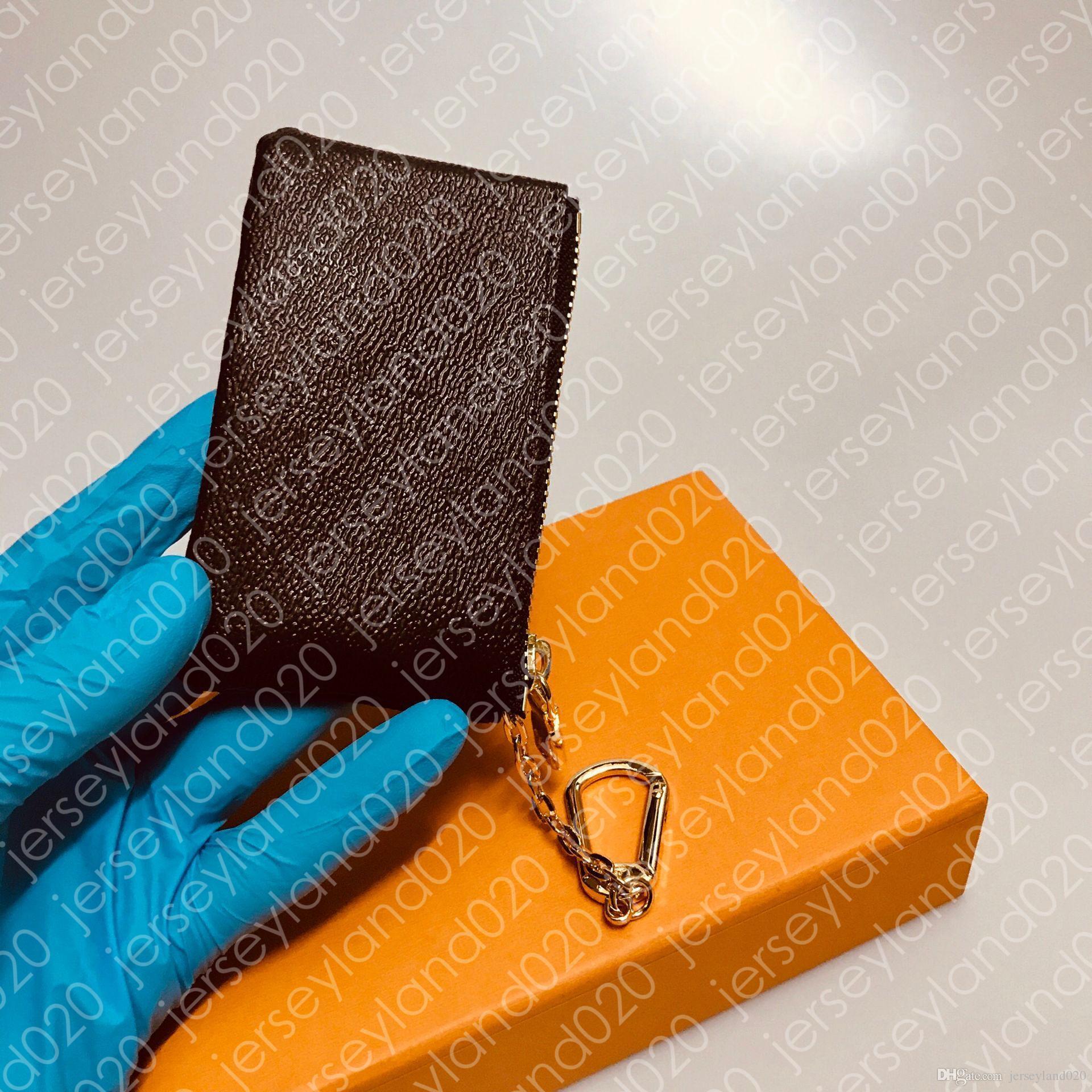 مفتاح الحقيبة M62650 POCHETTE CLES مصمم أزياء المرأة رجل حلقة رئيسية حامل بطاقة الائتمان عملة محفظة فاخرة محفظة حقيبة سحر البني قماش