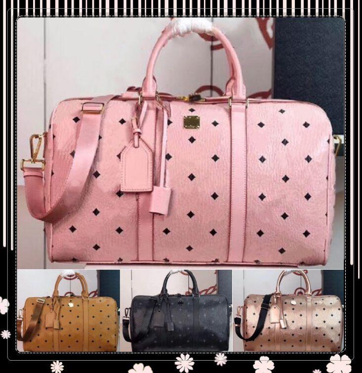 Classic 45cm Large Travel Bag Pillow Duffle Bags Luggage Handbags Designer Handbag Real Leather Capacity Sport Bag Shoulder Crossbody Bags