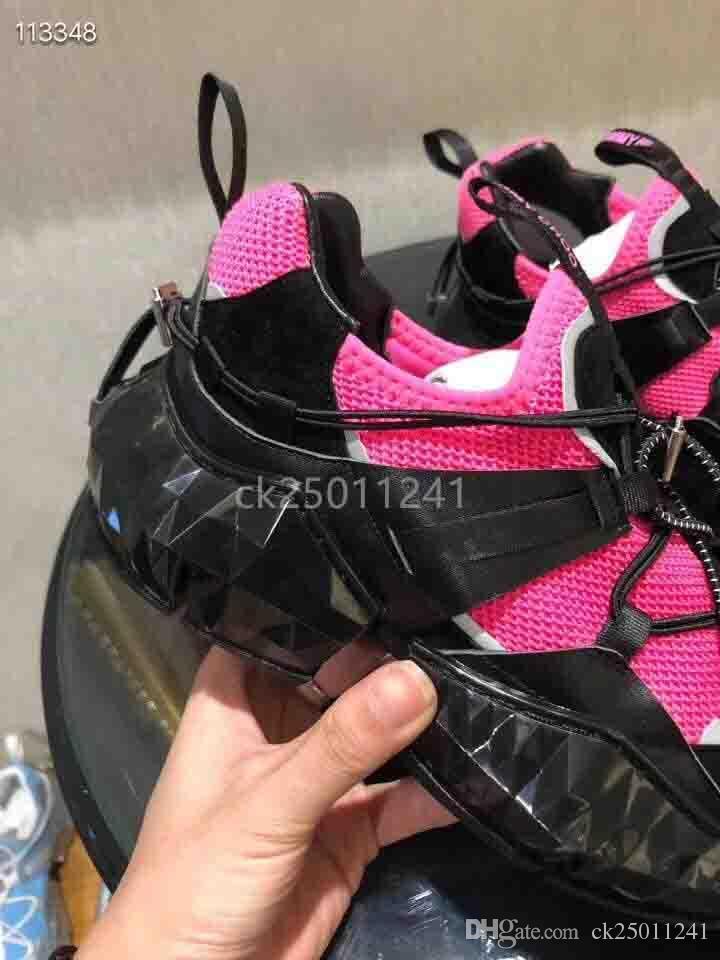 ışıklı çizgiler bellek elastik aşınma dirençli deri rahat ayakkabılar boyutu 36-45 ck01 ile yeni sıcak moda tasarımcısı Joker tarzı baba ayakkabı
