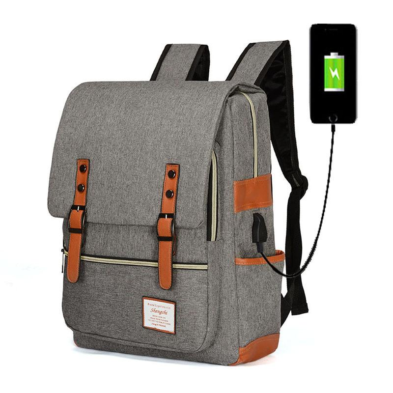 Новый Arrive2020 новый USB зарядки рюкзак анти-кражи рюкзак колледж ветер школьный портфель ноутбука повседневный Сумка мешок компьютера Бесплатная доставка