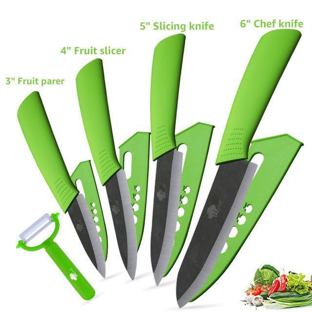 سكاكين المطبخ السيراميك سكين 3  4  5  6 بوصة سكين زركونيا اليابانية الأسود بليد التقشير الفاكهة الخزف الشيف السكاكين طبخ