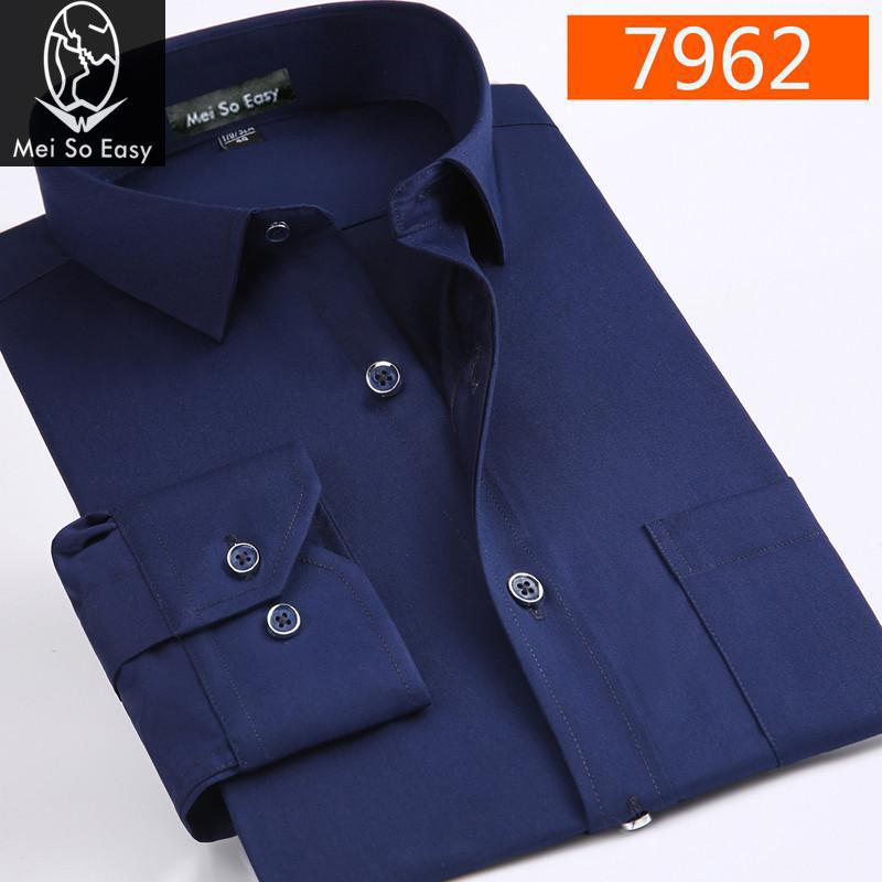 2017 new arrival Easy care cotton male long-sleeve shirt super large men business casual formal white plus size M-7XL8XL9XL