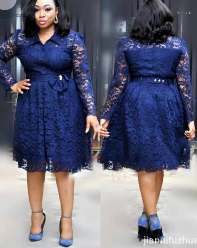 2018 Nouveau Style de mode elegent femmes africaines plus la taille Robe l-4XL1