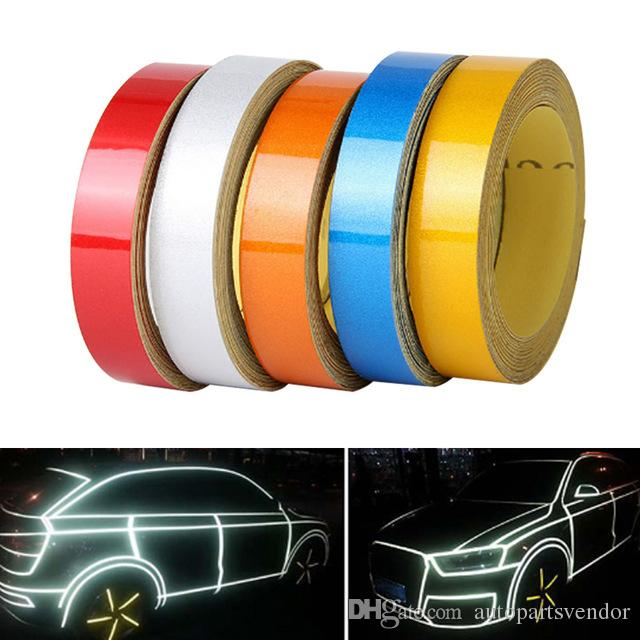 Car-styling Night Magic Reflective Tape 1cm*5m Automotive Body Motorcycle Decoration Car Sticker