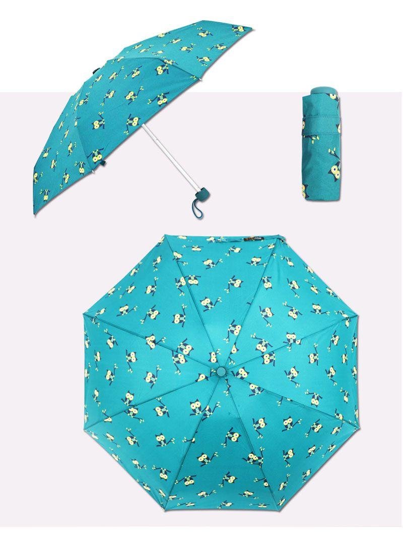 접는 우산 올빼미 만화 방풍 우산 Lady 's 우산 4 색을 사용할 수