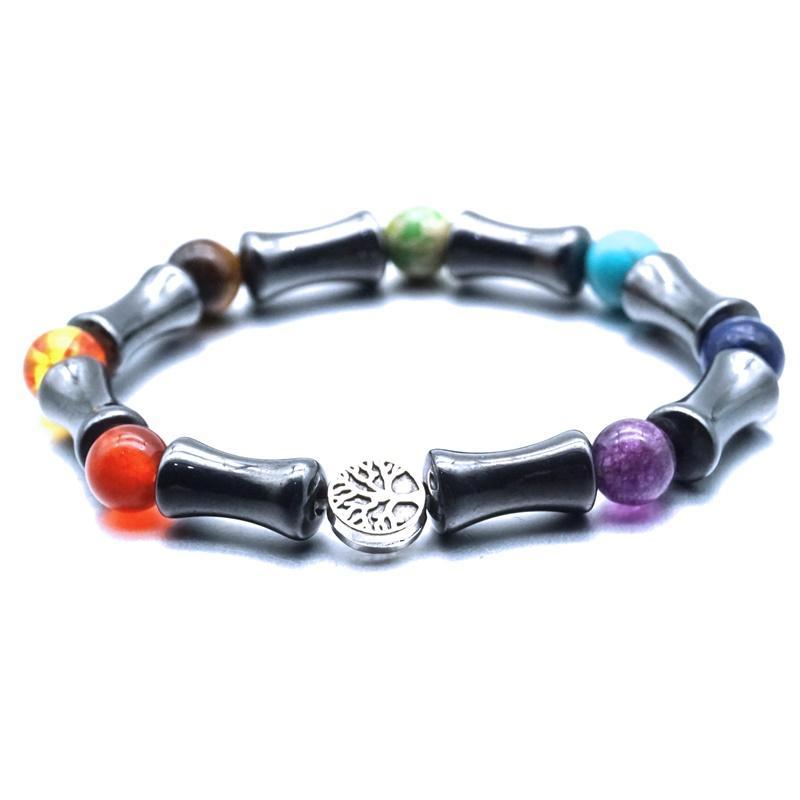 Baum des Lebens schwarz Hämatit Perlenarmband Heilung Gleichgewicht Perlen Reiki Buddha Gebet-Armband Frauen Männer Schmuck