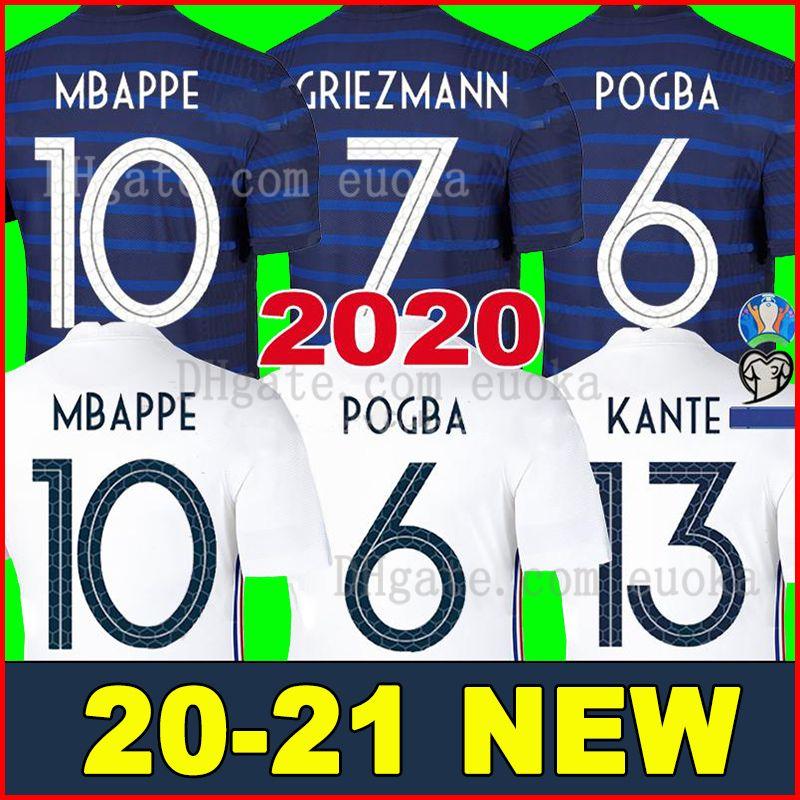 France 2020 GRIEZMANN MBAPPE 2 estrellas camiseta de fútbol POGBA KANTE DEMBELE VARANE MATUIDI soccer jerseys kit de mujeres niños maillot de foot camisa de futebol 2020 2021
