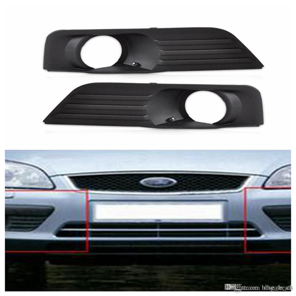 Противотуманные фары решетка передняя нижняя сторона бампера противотуманных фар Крышка для Ford Focus 2005-2008 Black Auto Side Hole Грили DDA306