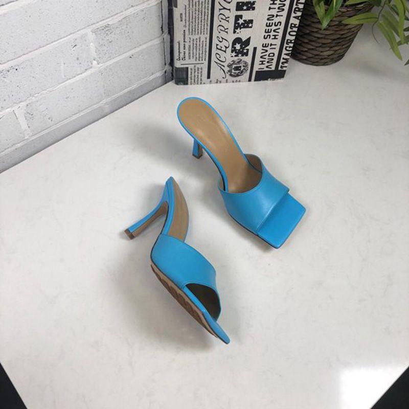 2020 Fashion Women Designer Flip Flop Sandal nappa dream stretch sandals ladies Luxury Party Slippers Wedding Women's high heels