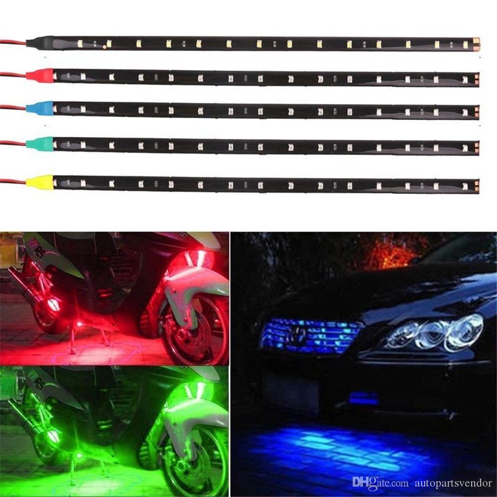 10PC 30cm High Power LED Daytime Running lights DRL 100% Waterproof 5050 SMD Car Auto Decorative Flexible LED Strip Fog lamp