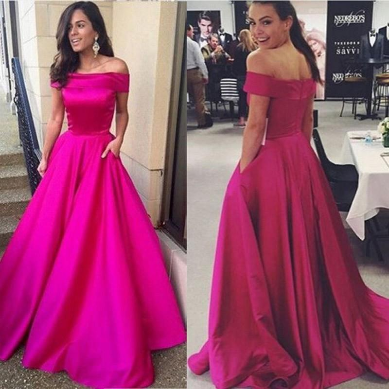 Cheap Off Shoulder Long Formal Evening Dresses Women's Fashion Bridal Gown Special Occasion Prom Party Dress