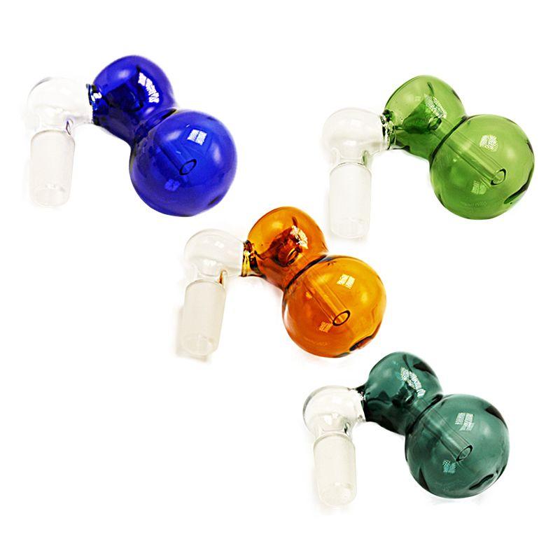 새로운 다채로운 유리 재 포수 보울 14mm의 18mm 남성 공동 무모한 그릇 퍼크 물 파이프 기억 만 살짝 적셔 조작을 위해