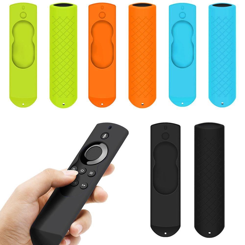화재 TV 스틱 리모콘 4 색에 대한 소방 TV 음성 원격 5.9 인치 안티 슬립 실리콘 보호 케이스 커버 쉘