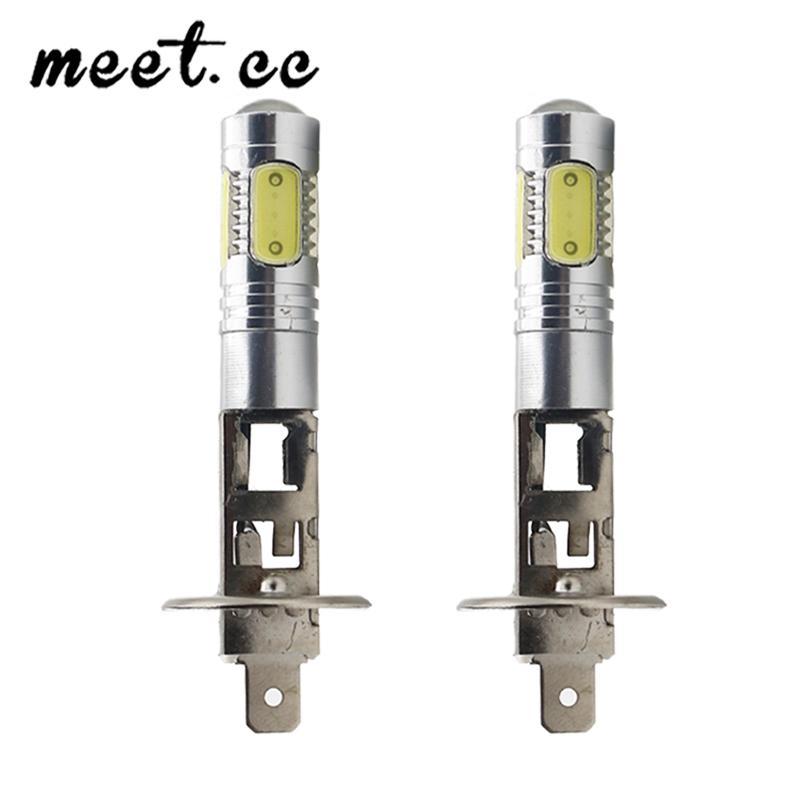 Bombilla H1 H3 1pcs LED super brillante 7.5W de coches Faros de Niebla 12v blanco Conducir Correr Día automático de luz de lámpara accesorios del coche 12v