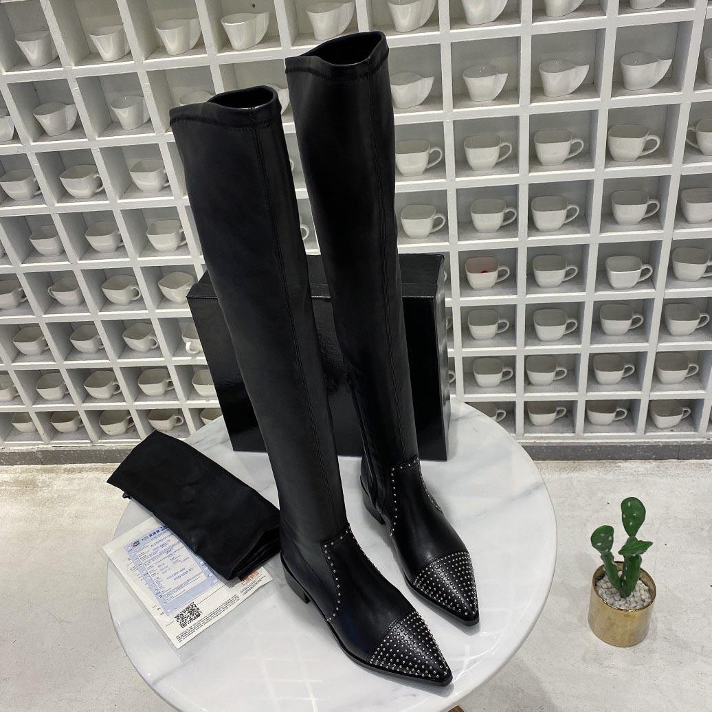 thek 니 부츠 디자이너를 통해 핫 Sale- 이탈리아 브랜드 럭셔리 여자는 허벅지 긴 부츠 패션 숙녀 캐주얼 신발 여자 B103233D