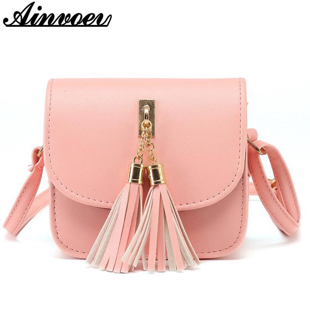 Moda 2017 Piccola borsa di colore della caramella nappa Donne Messenger Borse Donna spalla della borsa delle donne del sacchetto bolsa dl9110 / f