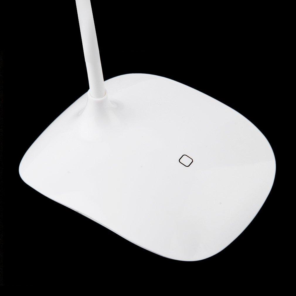 Ricarica USB Eye-care Protezione scrittoio / tavolo Lampada LED 18 luci bianche tocco squisitamente progettate durevole