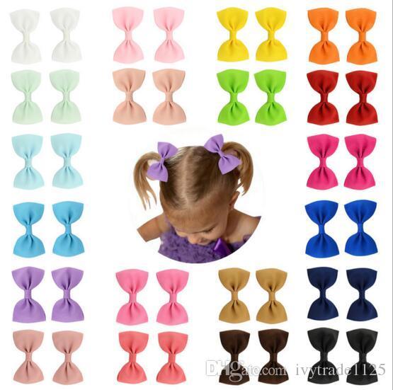 20 Renkler BB Kız Saç Yaylar 2.75 Inç Yay Tasarım Kız Barrettes Lolita Kızlar Saç Aksesuarı