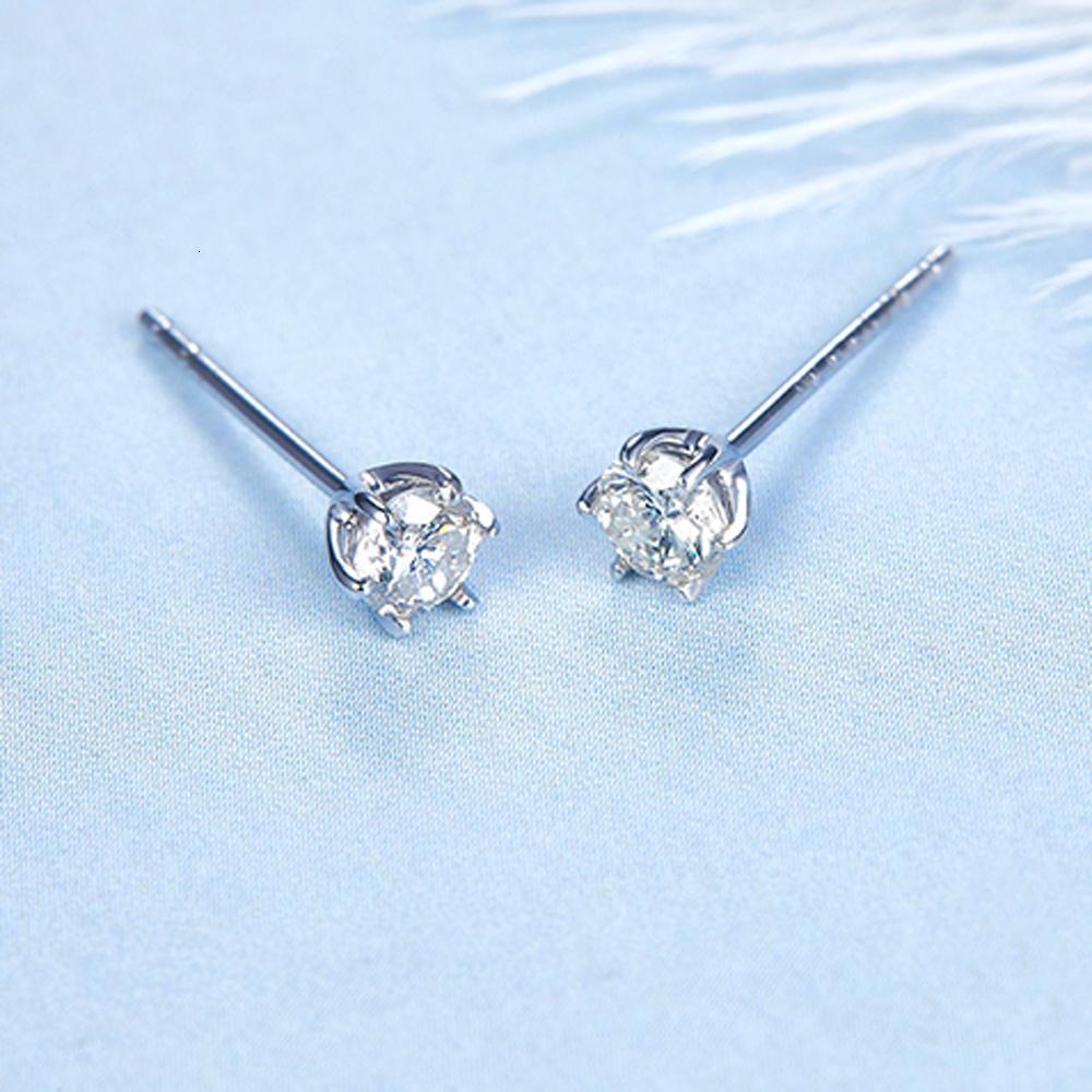 2019 Nova 0.1ct brincos de diamante jóias de luxo de ouro 18K para as mulheres pequenas de diamantes duas cores para escolher CJ191203