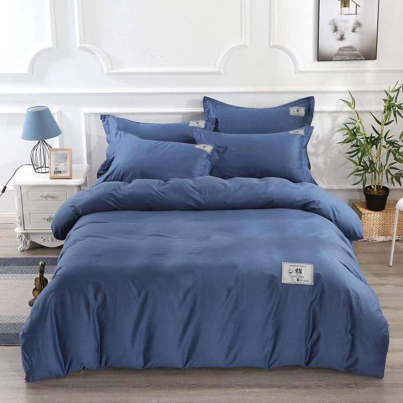 Designer Bedding Set Modal Algodão cama de quatro pedaço da capa do edredon Folha de cama Set casa e jardim frete grátis