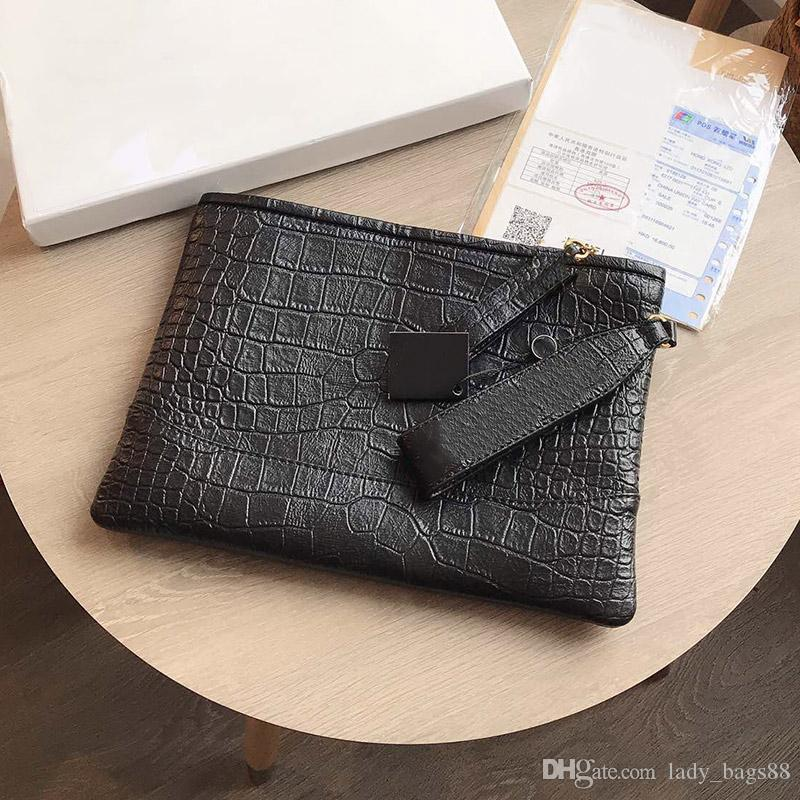 Fashion Designer Luxury Women Handbag Purse Bag Crocodile Print Envelope Bags High Quality Coin Genuine Leather Clutch Tote Purse Bag Wallet