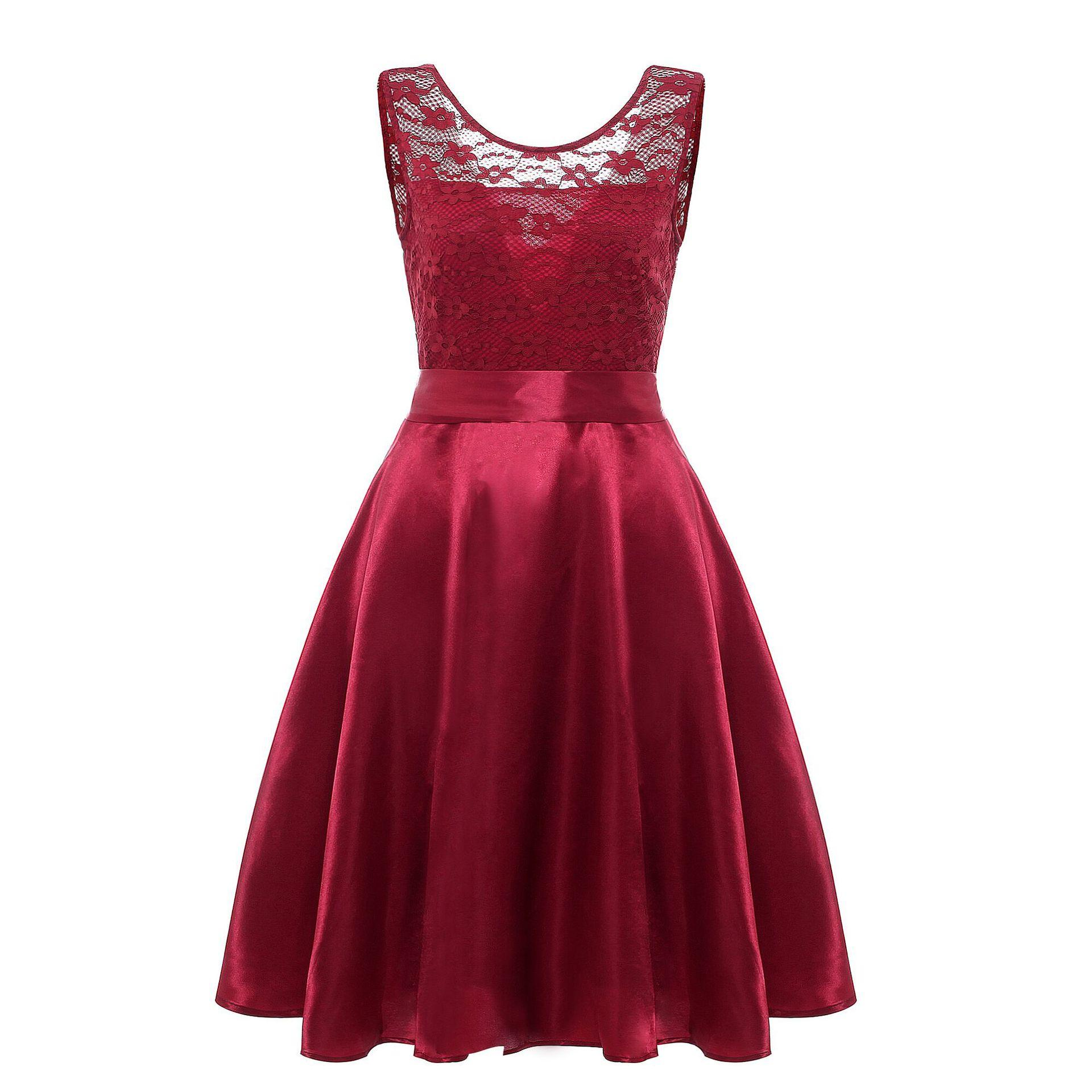 Simple Burgundy Satin Homecoming Dresses Cheap Grey Champagne A Line Knee Length Short Cocktail Party Dress 2019