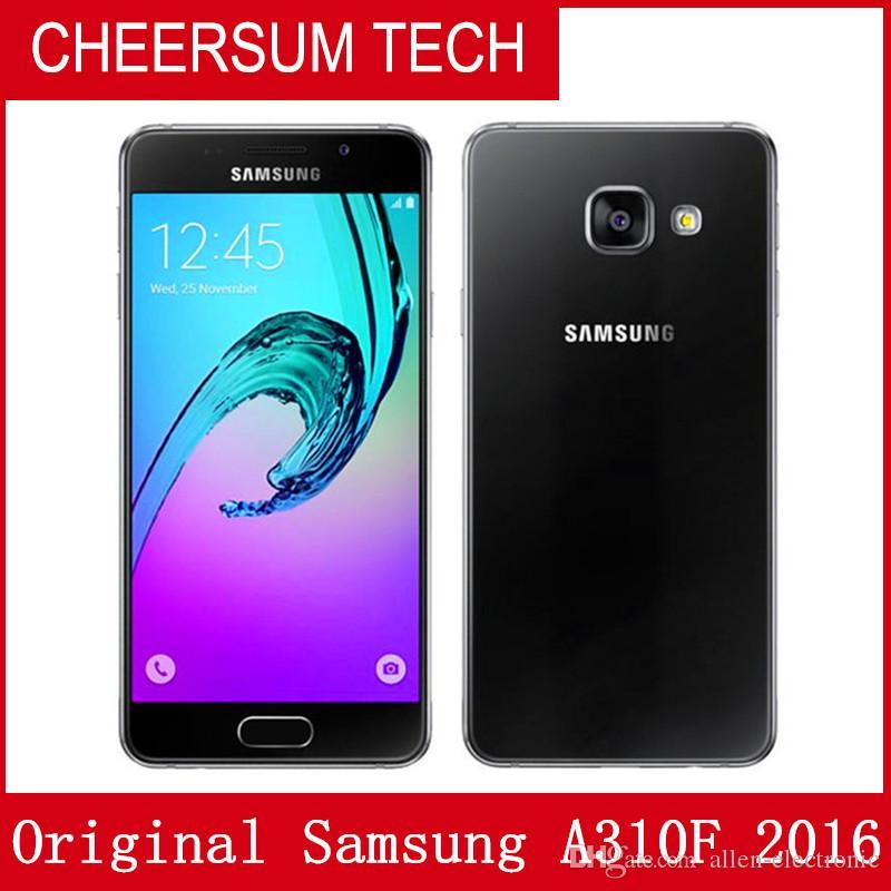 unlocked Original Samsung Galaxy A3 2016 A310F Single SIM 4.7 inch Quad Core 1.5GB RAN 16GB ROM 13MP 4G LTE Android Smart Phone free post