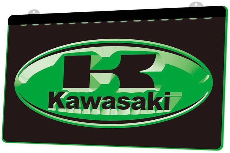 LD1432 (g) Kawasaki Racing Motorcylce Neon Light Sign Decor Free Shipping Wholesale 8 cores para escolher