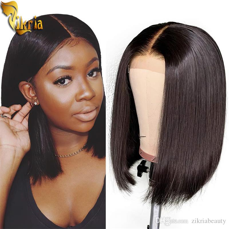 Beauty Short Straight Bob 13x4 Lace Front Wig Full Lace Human Hair Wig 8 14 Inches 130 150 Density With Baby Hair For Black Women Brazilian Full Lace Glueless Wigs Good Wigs From Zikriabeauty 28 71