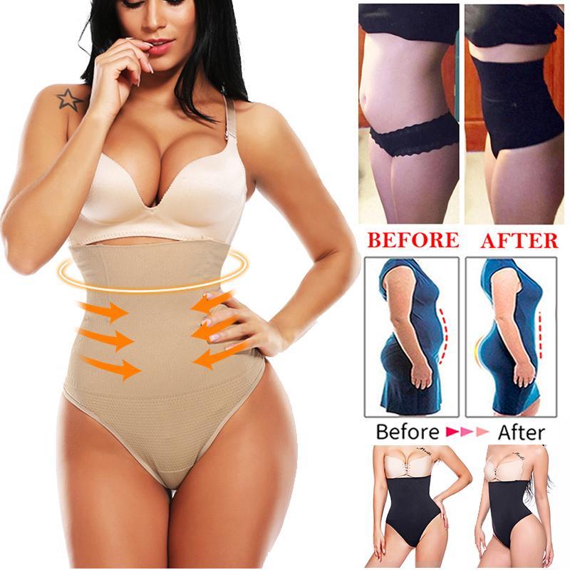 wholesale Women Shapewear High Waist Tummy Control Body Shaper Seamless Underwear Thong Panties Slimming Girdle Bodysuit Corset