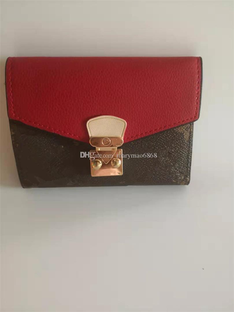 Flip Luxury Thin Classic Portfolio Donne Portafogli Brevi Portafogli in pelle Multicolor Card Hasp Busta New Holder Designer Bag Bank card con PX PXDU