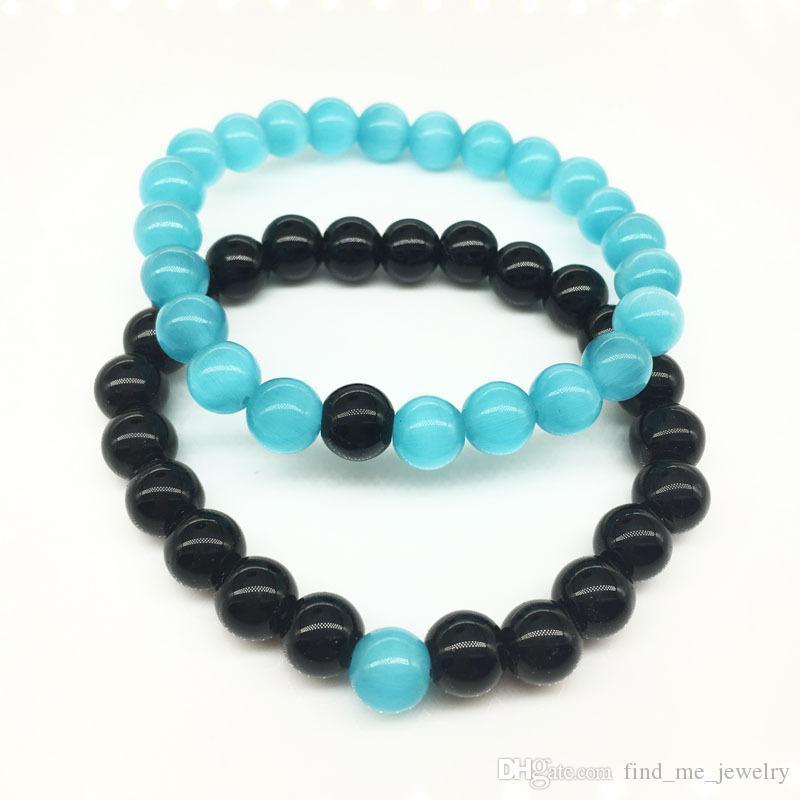 2017 Comercio al por mayor conjunto de yoga mate piedra hecha a mano granos azules Buda pulseras pulsera naturales de roca de piedra volcánica Hombres Mujeres joyería