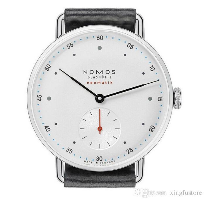 NOMOS minimalista relógio de pulso de couro banda para homens esportes ao ar livre casual namoro relógio de pulso relogio masculino