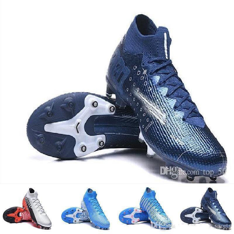 زئبقي ال superfly 7 VII النخبة نيمار AG-PRO المرابط أحذية كرة القدم الأزرق الفراغ الأسود حلم سرعة الضوء الأزرق أحذية الأطفال أحذية للشباب لكرة القدم