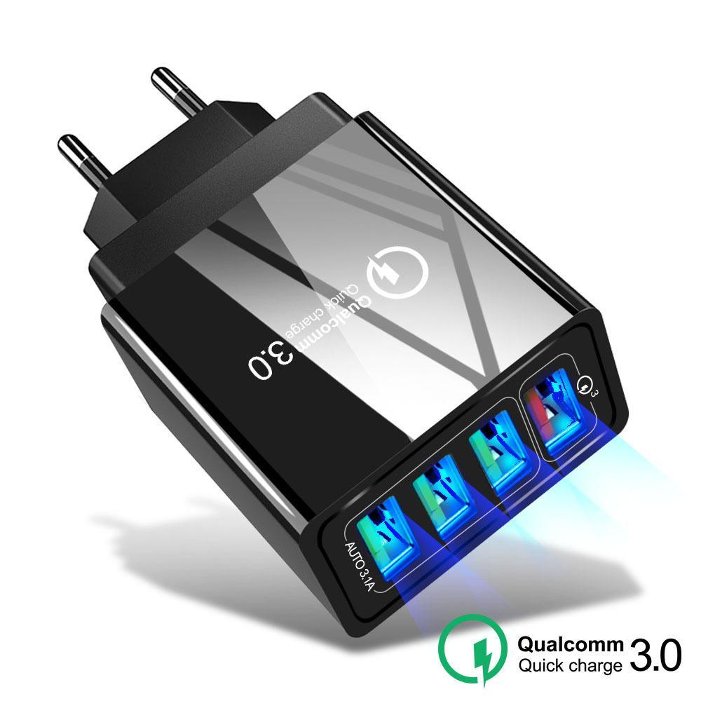 48W Hızlı Şarj Samsung iPhone Huawei Tablet QC 3.0 Hızlı Duvar Şarj ABD, AB UK Tak adapté için 3.0 USB Şarj