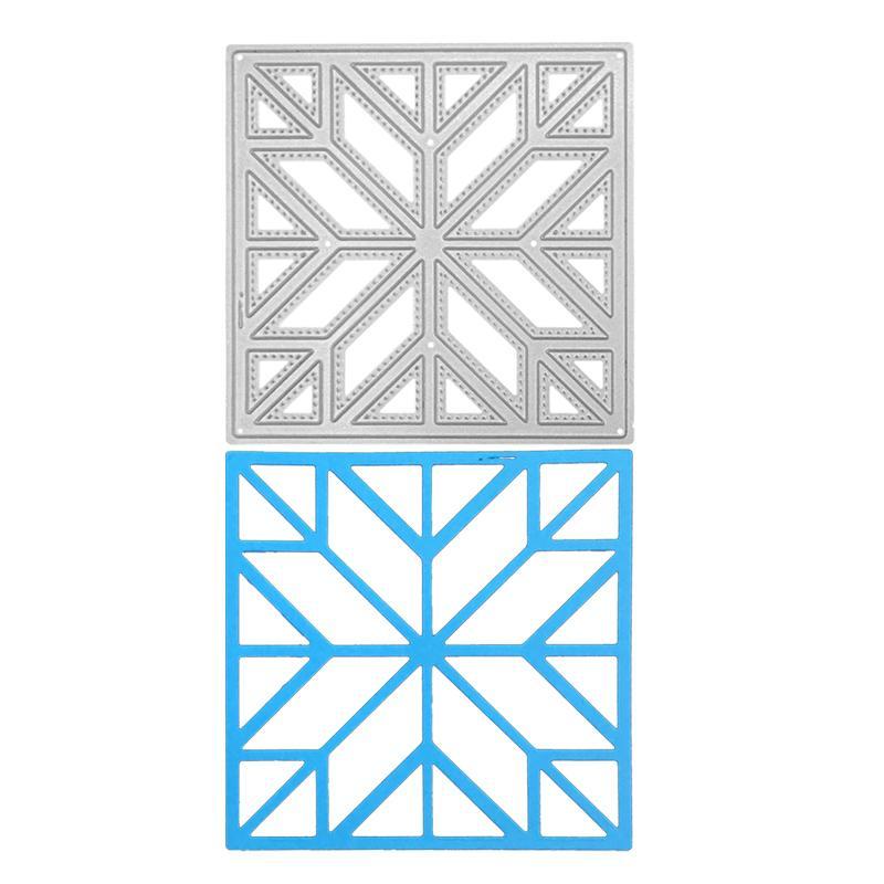 Геометрическая резки металла Die Silver Craft Die Одноместный ручной Специальный подарок Stamp и Scrapbook Рельефный шаблон карты